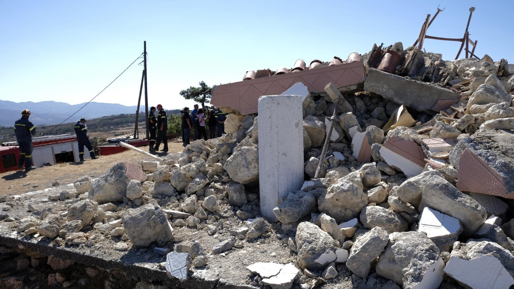 Erdbeben auf Kreta: Vor allem ältere Gebäude waren durch die Erdbeben auf der griechischen Insel eingestürzt.