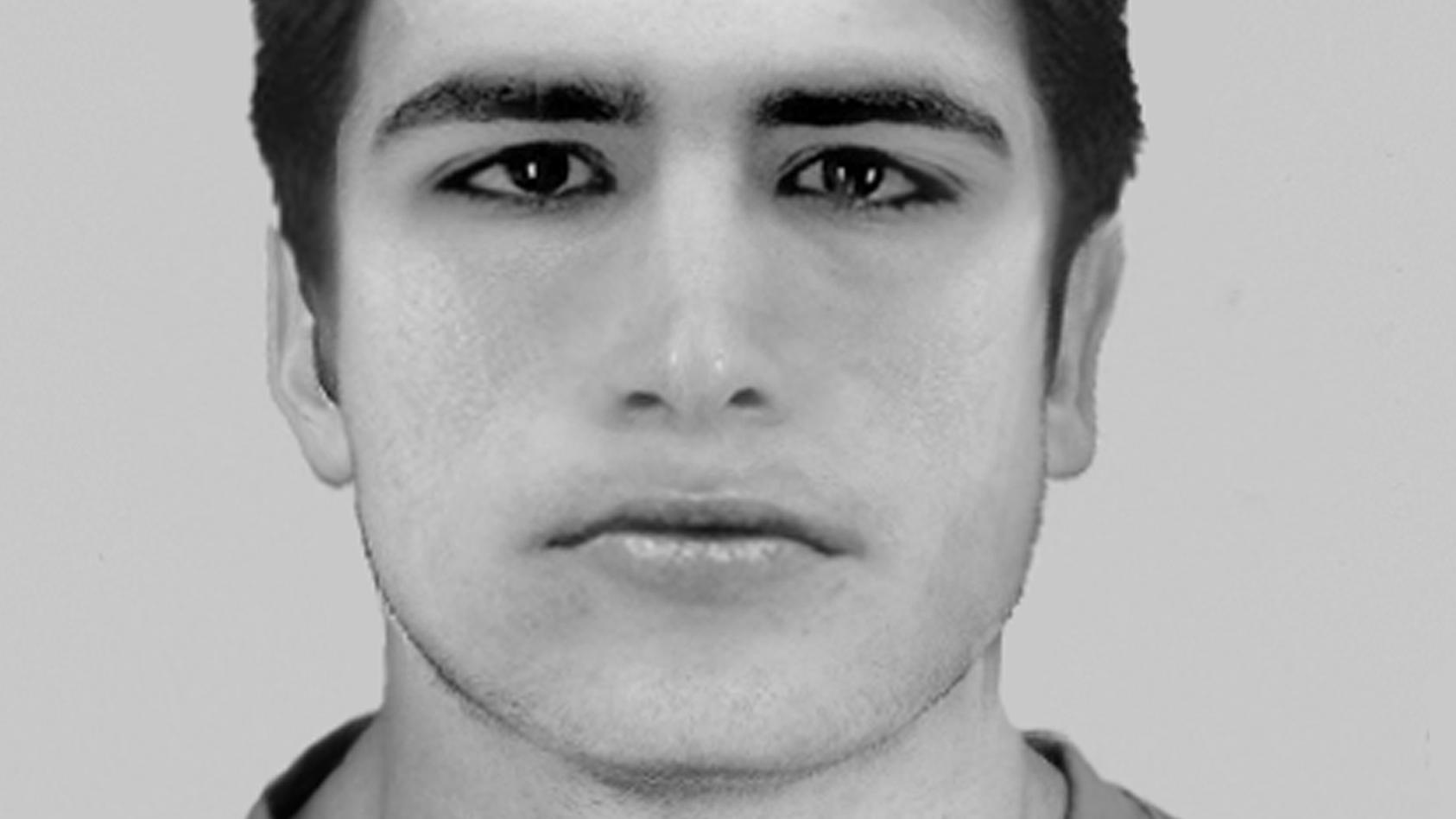 Die Polizei sucht mit diesem Phantombild nach einem Tatverdächtigen nach einer Vergewaltigung in Düsseldorf.