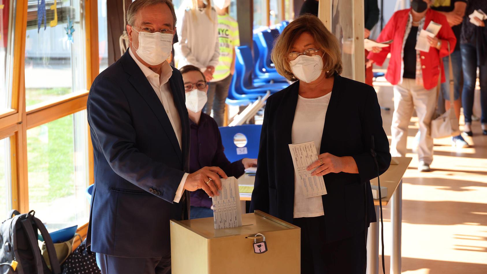 Armin Laschets Stimmabgabe sorgte für Wirbel, weil er seine Wahl offenbarte.