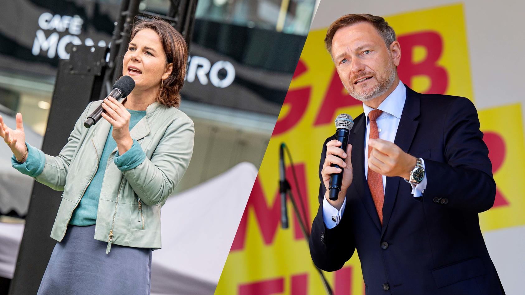 Annalena Baerbock und Christian Lindner wollen zuerst miteinander sprechen