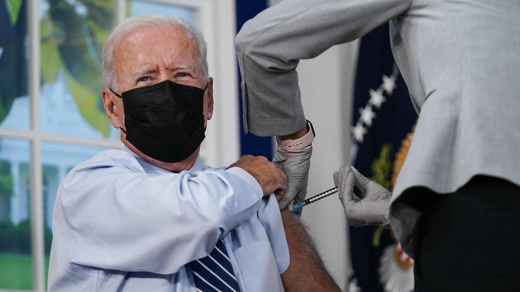 US-Präsident Joe Biden hat seine dritte Corona-Impfung bekommen.