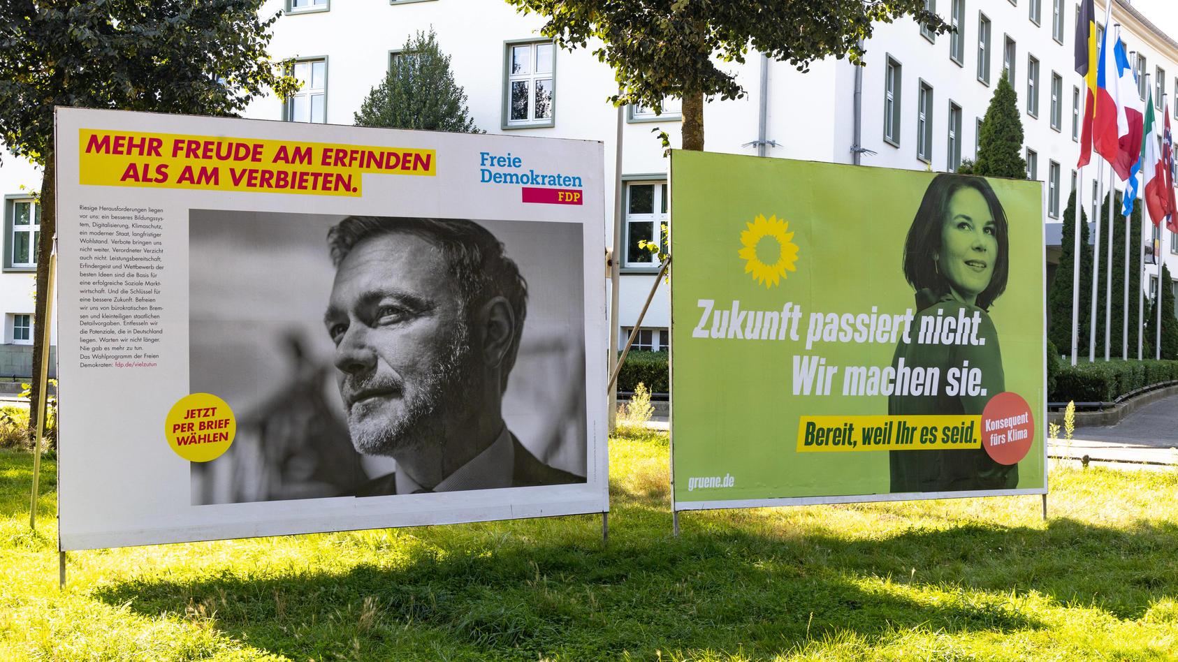 Im Wahlkampf stellten sich Lindner und Baerbock mit grundverschiedenen Kampagnen auf