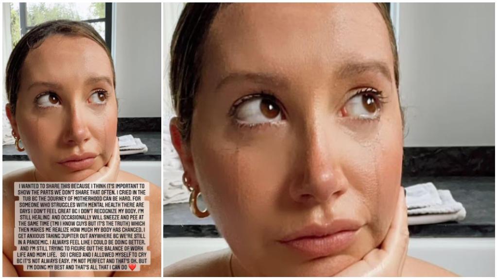 Ashley Tisdale unter Tränen in der Badewanne