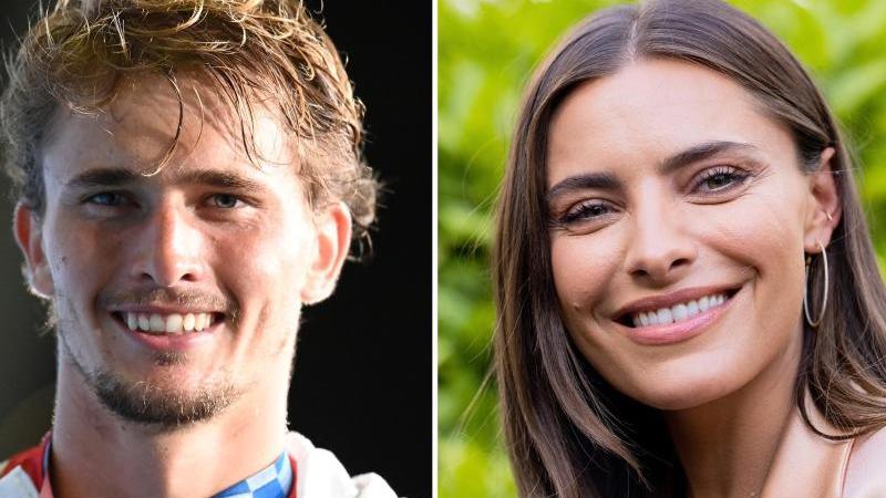 Sind Alexander Zverev und Sophia Thomalla in einer Beziehung?. Foto: Marijan Murat/Rolf Vennenbernd/dpa