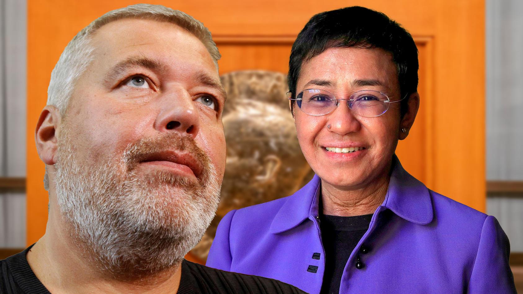 Die beiden Journalisten Maria Ressa von den Philippinen und Dmitri Muratow aus Russland erhalten in diesem Jahr den Friedensnobelpreis.