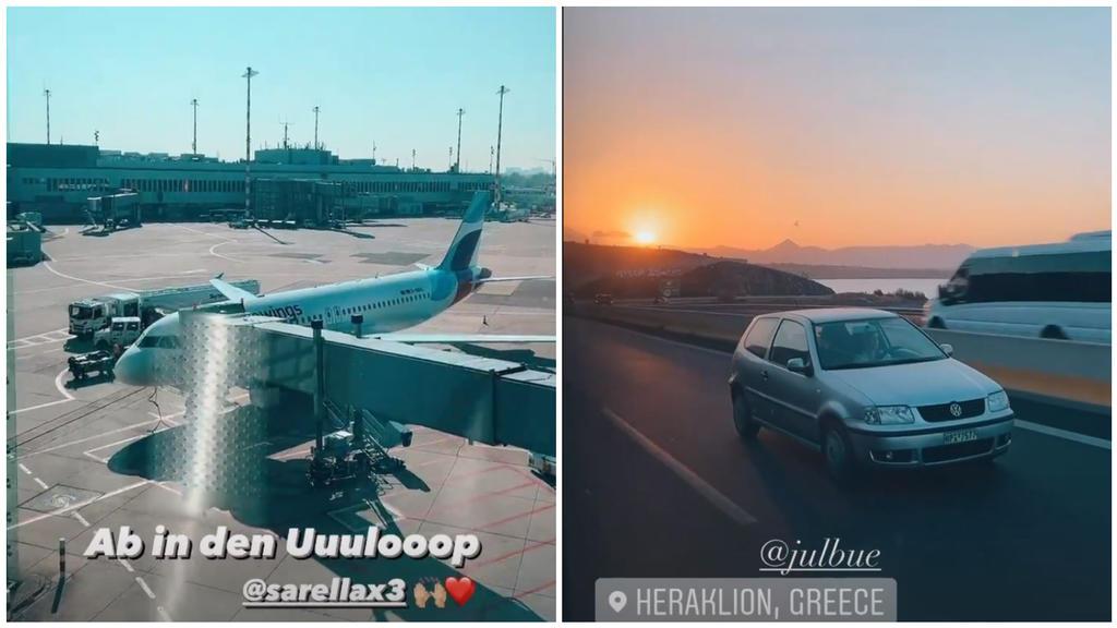 Auf Instagram nimmt das Ehepaar seine Fans mit. Vom Flughafen in Düsseldorf bis nach Kreta.