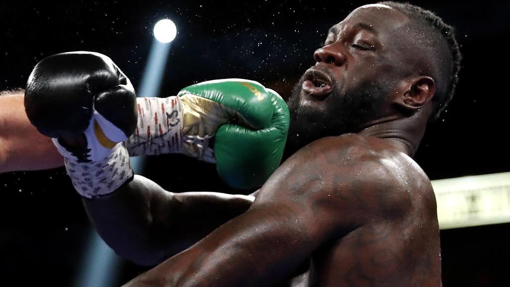 Boxing - Tyson Fury v Deontay Wilder - WBC Heavyweight Title - T-Mobile Arena, Las Vegas, Nevada, U.S. - October 9, 2021  Tyson Fury in action against Deontay Wilder REUTERS/Steve Marcus