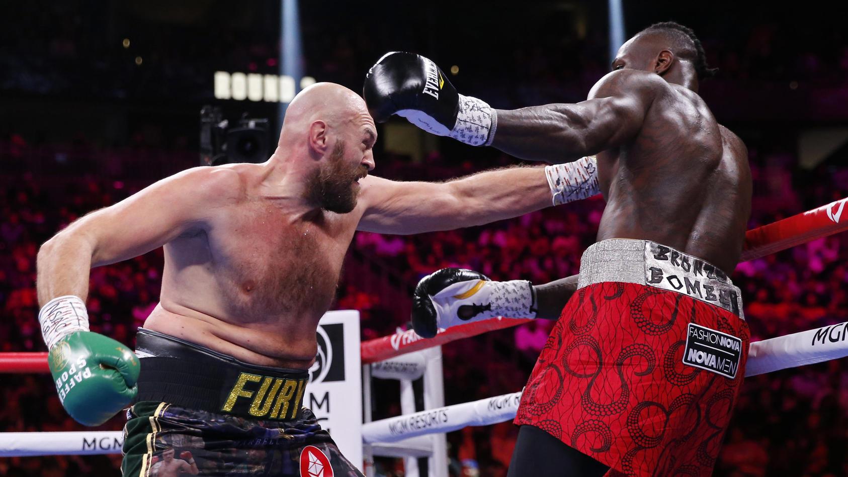 Tyson Fury dominierte den Kampf mit zunehmder Dauer.