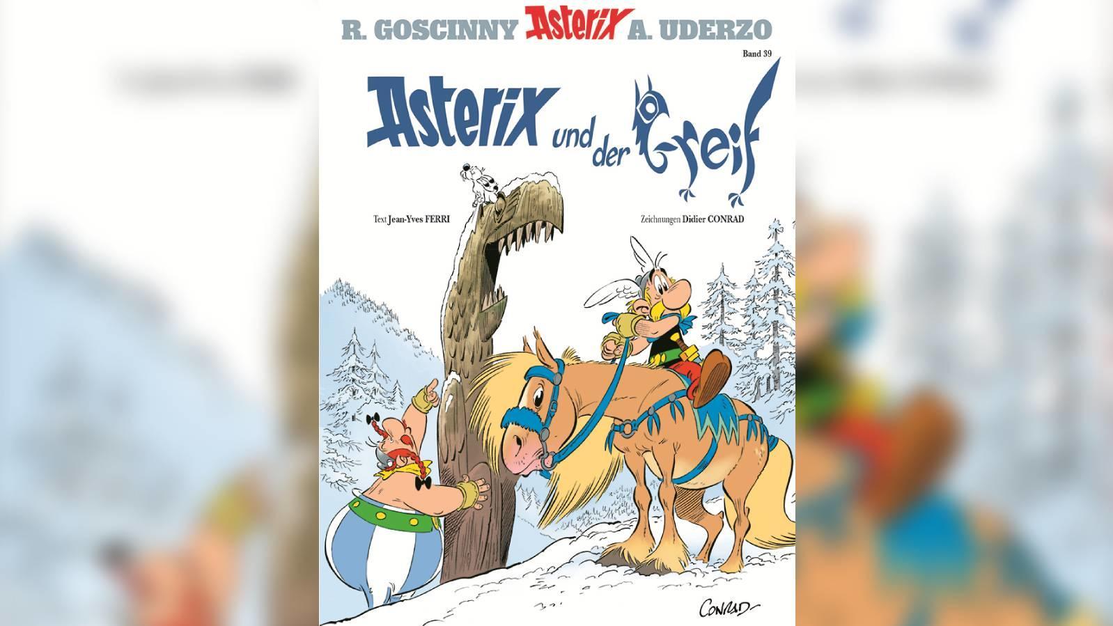 """Das offizielle Cover zum 39. Asterix-Band """"Asterix und der Greif"""""""