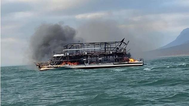 Das Feuer brach während einer zweitägigen Kreuzfahrt aus.