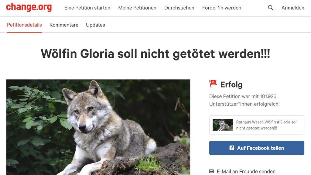 Über 100.000 Menschen stimmten bei der Petition ab.