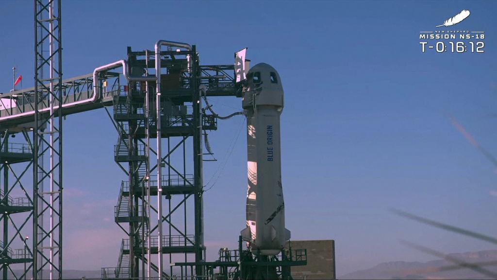 Die Raumkapsel, mit der Shatner und sein Team unterwegs sind.