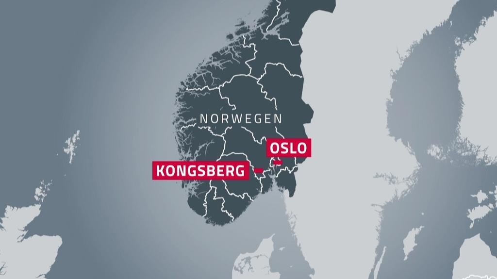 Kongsberg liegt ca. 80 km südwestlich von Oslo in Norwegen.