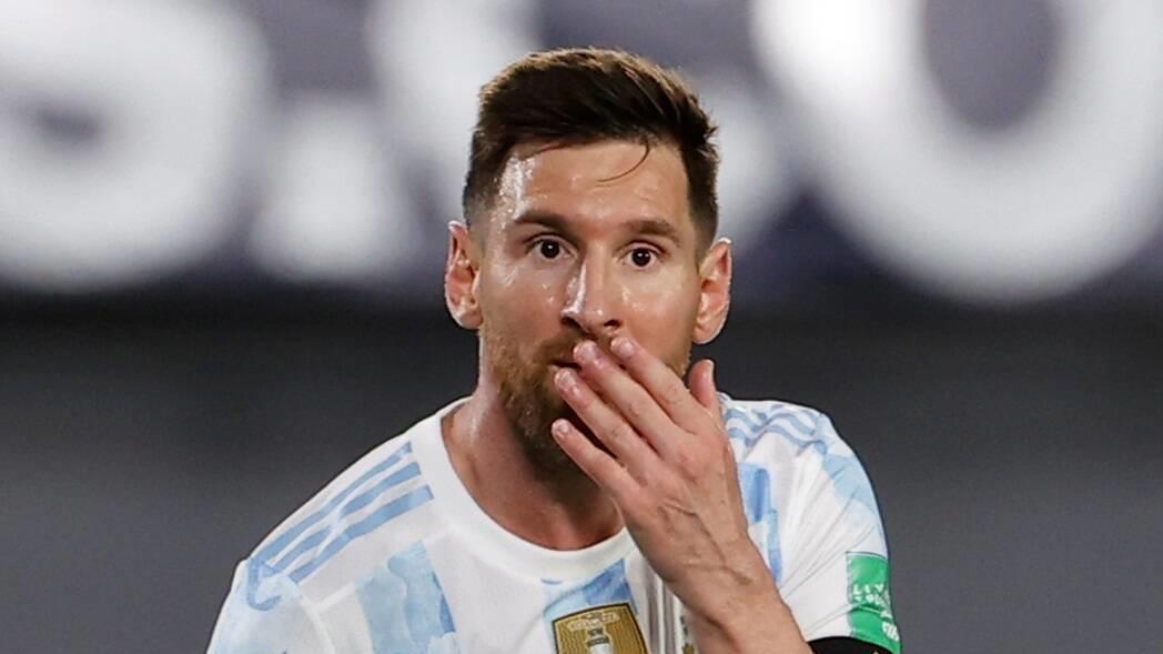 Überrascht: Lionel Messi.