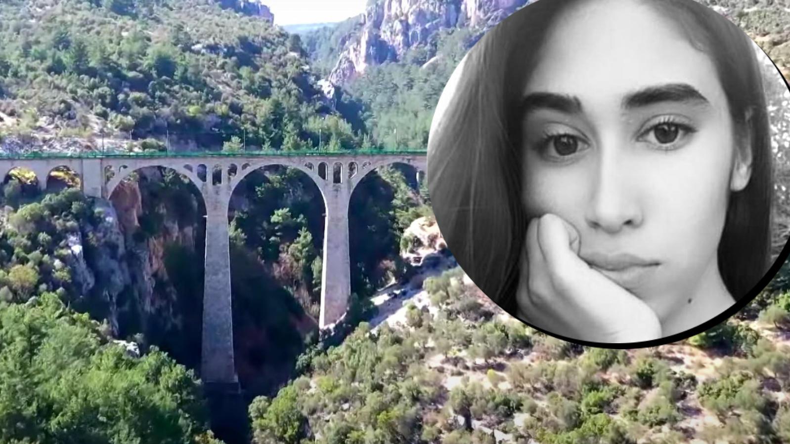 Hatice Nur Karabulut (Kreis) stürzte beim Versuch ein Selfie zu machen die Klippen am Gavurdere-Viadukt in den Tod.