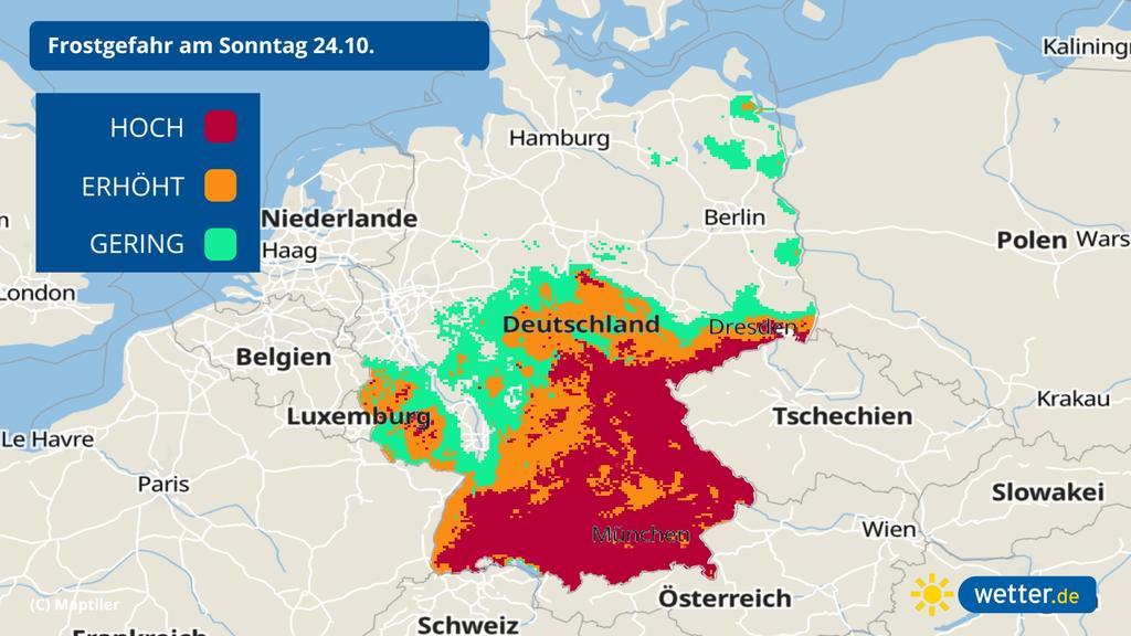 Frostgefahr in Deutschland: Die Temperaturen gehen besonders nachts wieder in den Keller.