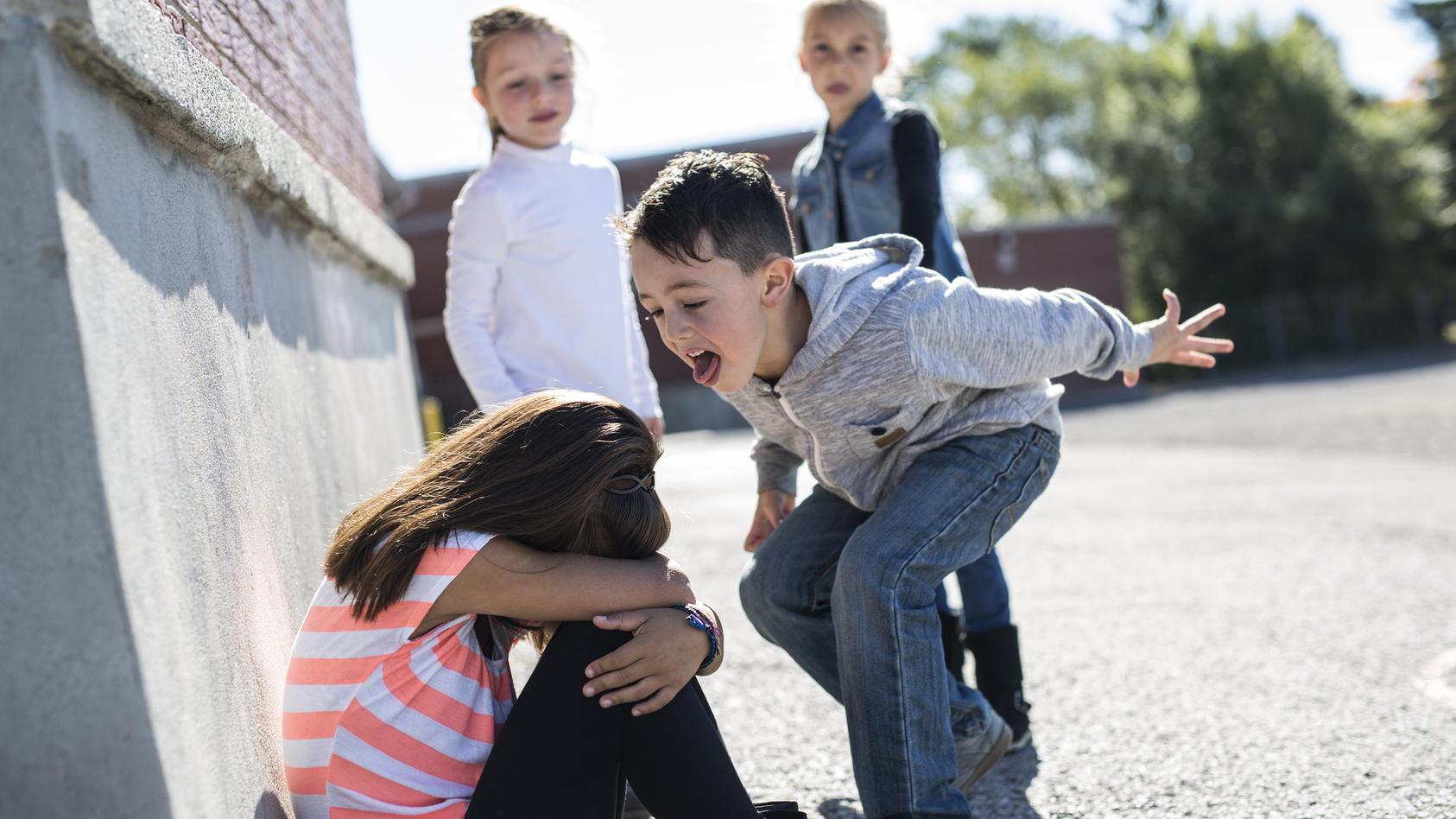 Wie sollten Kinder am besten reagieren, wenn sie von anderen Kindern geschubst oder geärgert werden? (Symbolbild)