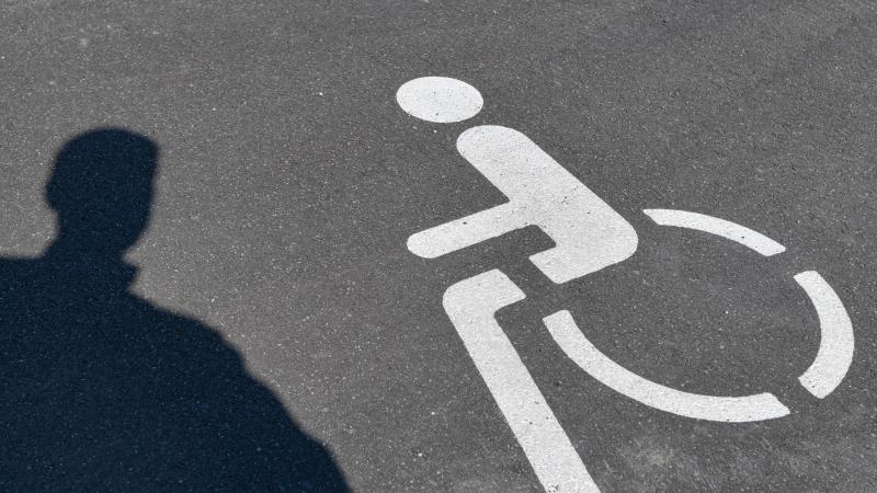 ein-piktogramm-fur-einen-behindertenparkplatz-und-der-schatten-einer-person-auf-asphalt-foto-patrick-pleuldpa-zentralbilddpa