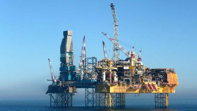 Gasplattform 'Elgin' in der Nordsee