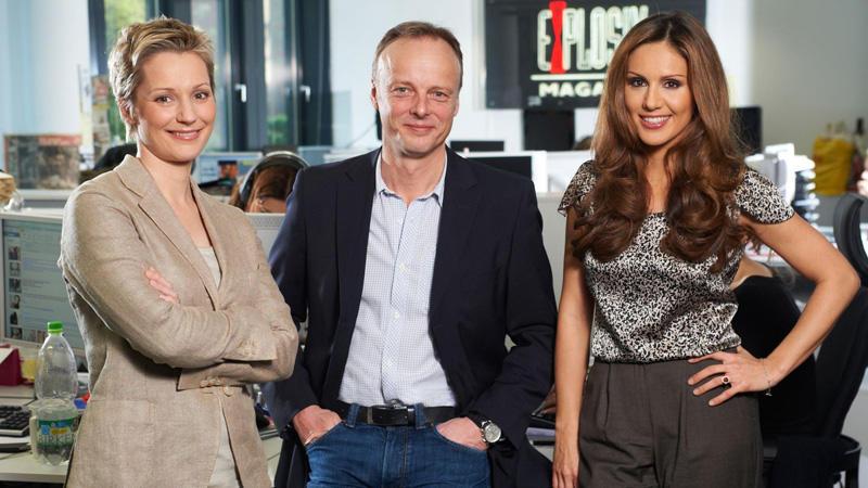Janine Steeger, Redaktionsleiter Frank Biernat und Nazan Eckes