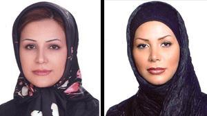 Die fälschlicherweise für tot erklärte Neda Soltani (links). Rechts ein Bild von Neda Agha-Soltan, die bei den Protesten im Iran starb.