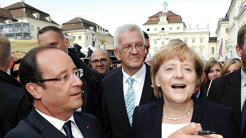 Hollande, Merkel