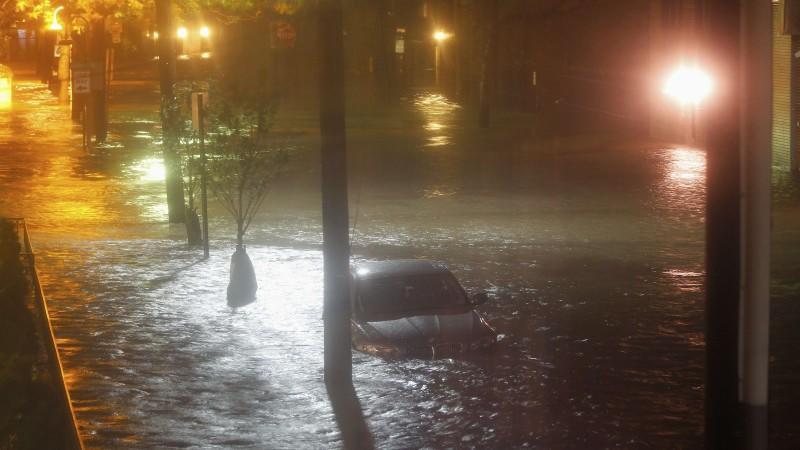 In New York und New Jersey (Bild) ist es bereits zu heftigen Überschwemmungen gekommen.