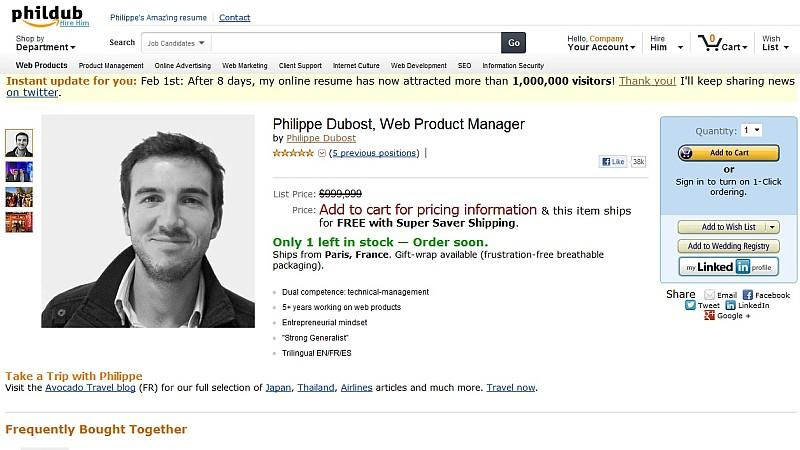 Amazon Bewerbung Phillipe Dubost