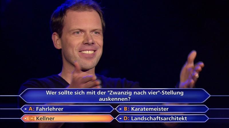 Die Millionenfrage war wie für ihn gemacht: Er wusste die Antwort auf Anhieb.