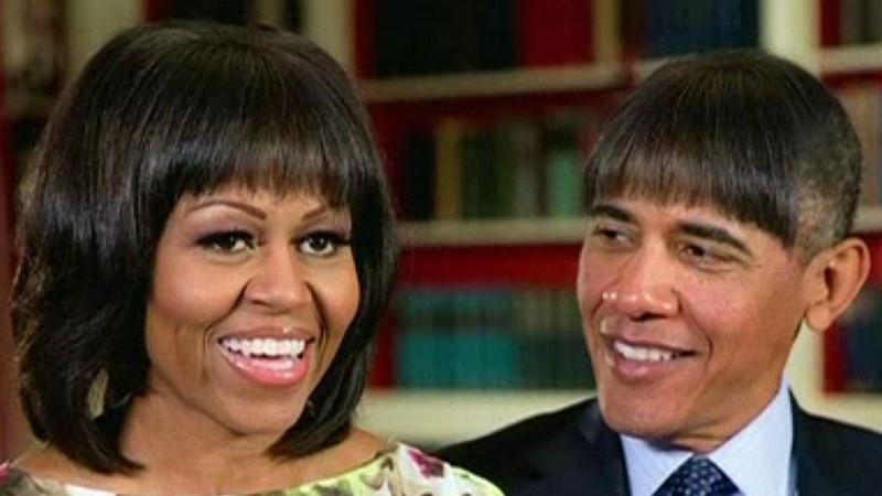US-Präsident Barack Obama überrascht mit neuer Pony-Frisur