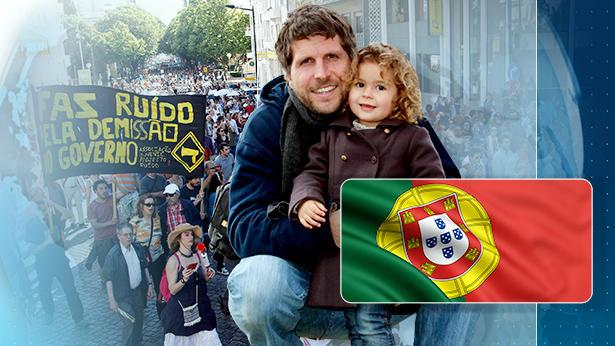 Philipp Scholz lebt schon seit sieben Jahren in Portugal. Er sieht gravierende Verschlechterungen, seit die Portugiesen so massiv sparen müssen.