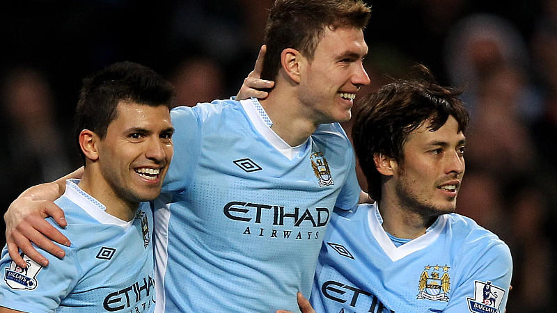 Nur drei von vielen Superstars: Kun Aguero, Edin Dzeko und David Silva.