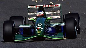 25 Aug 1991:  Jordan-Ford driver Michael Schumacher of Germany makes his F1 debut during the Belgian Formula One Grand Prix held in Spa, Belgium.  Mandatory Credit: Pascal Rondeau /Allsport