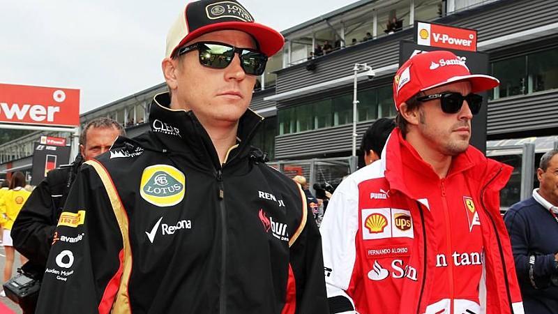 Nur nicht zusammen in einem Team: Kimi Räikkönen und Fernando Alonso