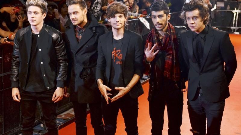 One Direction. Niall Horan, Liam Payne, Louis Tomlinson, Zayn Malik und Harry Styles.