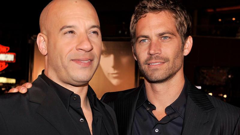 """Vin Diesel und sein verstorbener Freund und Kollege Paul Walker bei der """"The Fast and The Furious""""-Premiere."""