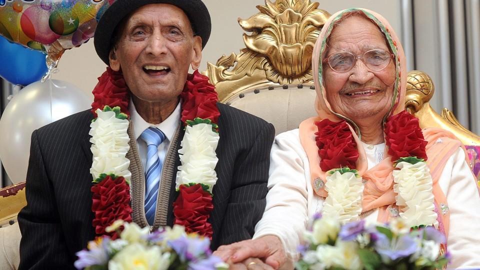 Das Paar feierte gerade seinen 109. und ihren 102. Geburtstag