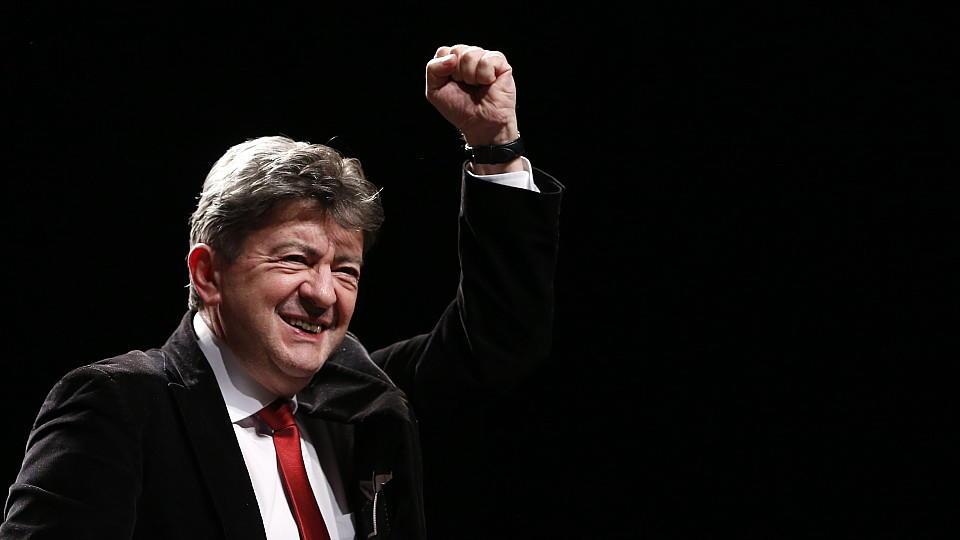 """Der Chef der französischen Linkspartei, Jean-Luc Mélenchon twitterte: """"Maul zu, Frau Merkel! Frankreich ist frei."""""""