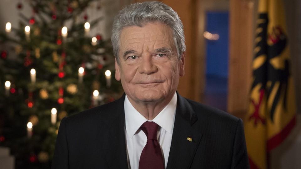 Gauck ruft in Weihnachtsansprache zu Flüchtlingshilfe auf