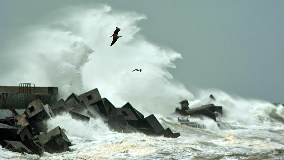 Unwetter auf Helgoland