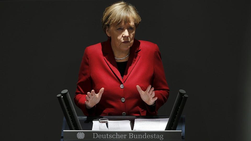 Angela Merkel bei der Regierungserklärung im Bundestag.