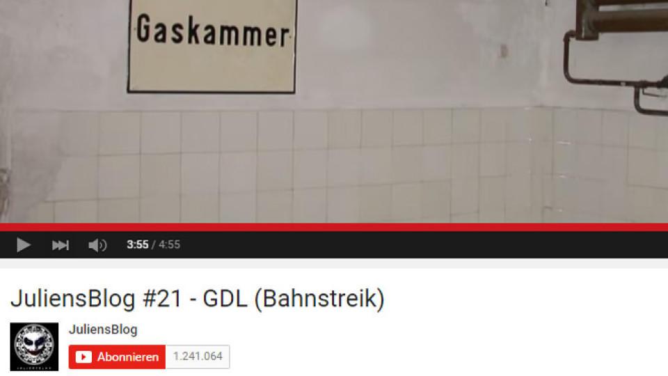 YouTuber 'Julien' steht für sein Video zum Bahnstreik der GLD in der Kritik.