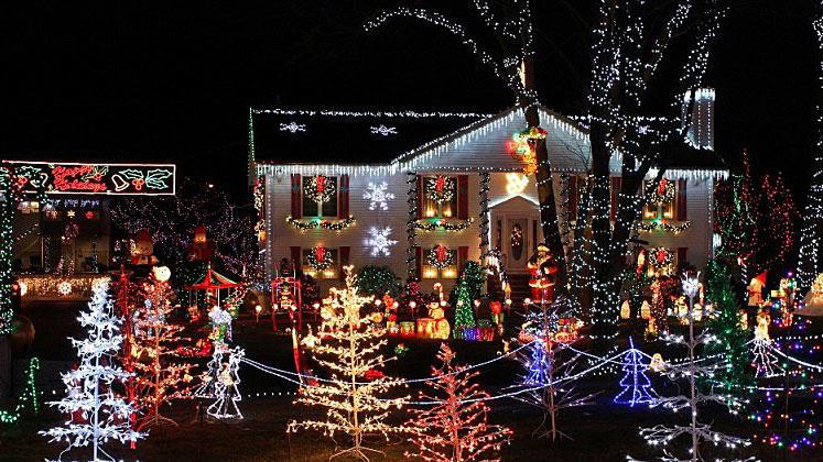 St. George ist weihnachtlich geschmückt.