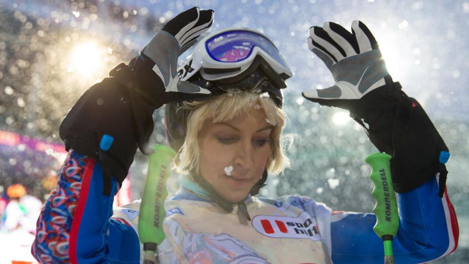 Heather Mills beim Ski Weltcup in Schladming