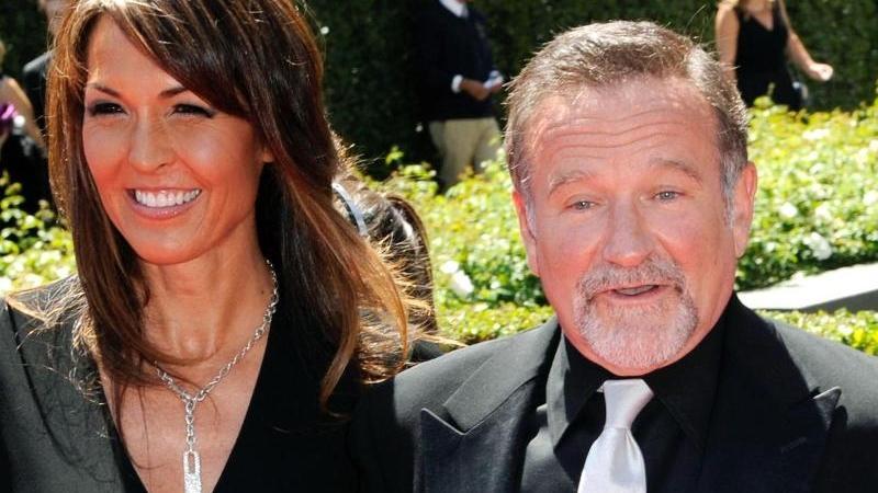 Robin Williams (1951-2014) und seine Frau Susan Schneider in Los Angeles (2010). Foto: Paul Buck