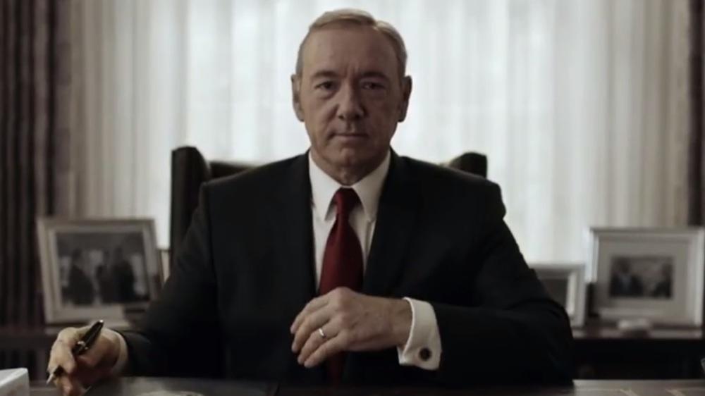 "Kevin Spacey als Frank Underwood in der Netflix-Serie ""House of Cards""."