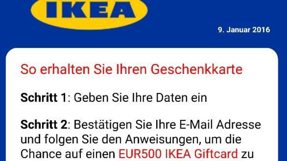 WhatsApp: Kettenbrief lockt mit Ikea-Gutschein