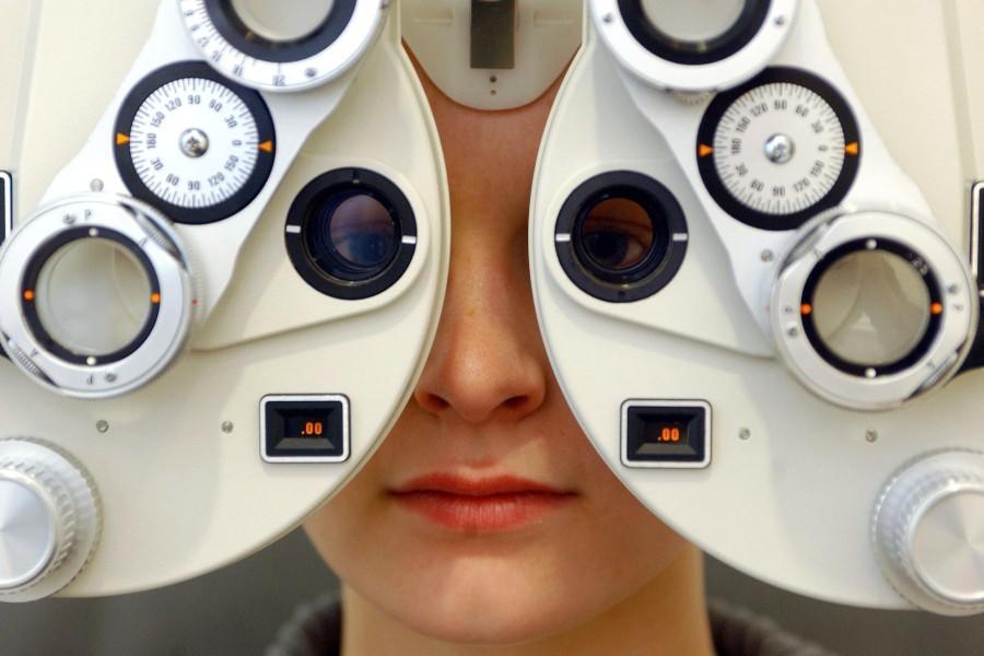 Sehtest beim Optiker