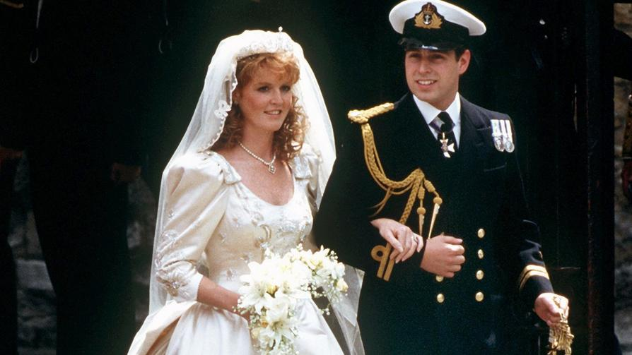 Sarah Ferguson und Andrew bei ihrer Hochzeit im Jahr 1986.