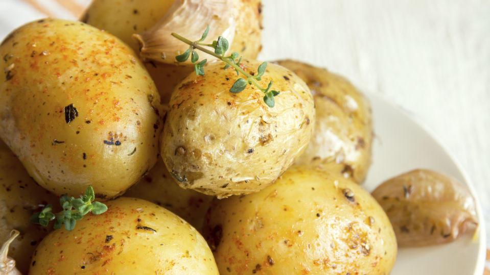 Kartoffeln sind gesund und lecker.